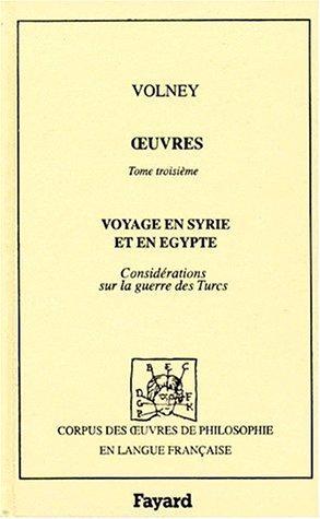 Voyage en Syrie et en Egypte (3 éd., 1799)