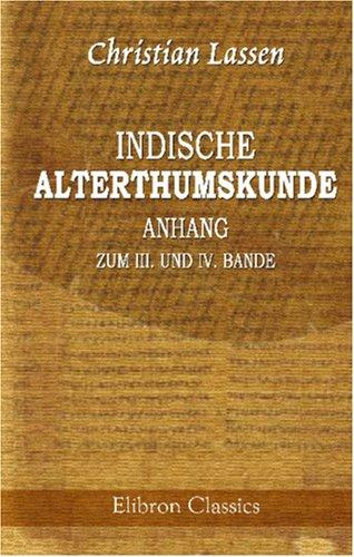 Download Indische Alterthumskunde