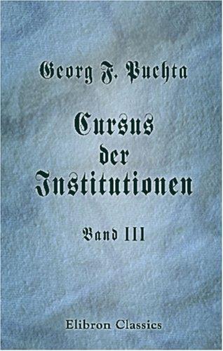 Download Cursus der Institutionen