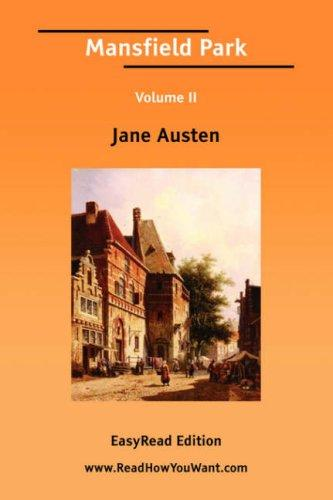 Download Mansfield Park Volume II EasyRead Edition