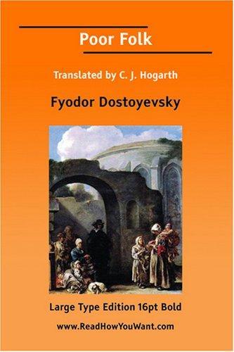 Download Poor Folk Translated by C. J. Hogarth (Large Print)