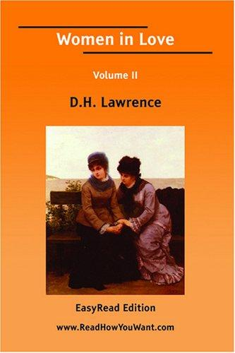 Download Women in Love Volume II EasyRead Edition