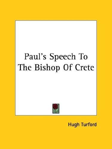 Download Paul's Speech to the Bishop of Crete