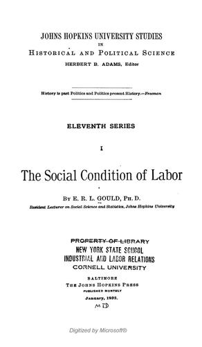 The social condition of labor