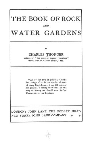 Download The book of rock and water gardens.