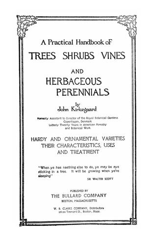 Download A practical handbook of trees, shrubs, vines and herbaceous perennials