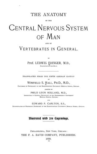 Download The anatomy of the central nervous system of man and of vertebrates in general.
