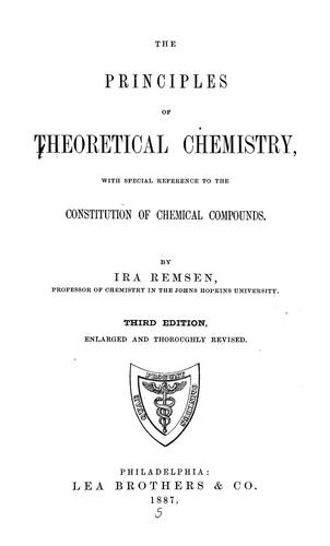 Download Principles of theoretical chemistry