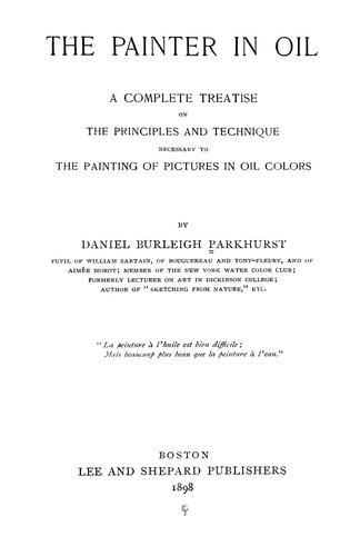 Download The painter in oil