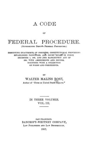 A code of federal procedure.