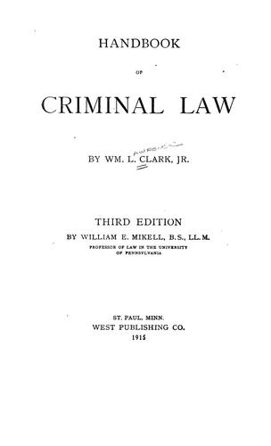Download Handbook of criminal law