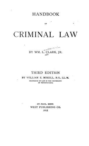 Download Handbook of criminal law