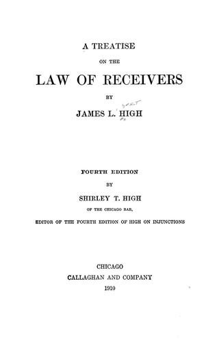 Download A treatise on the law of receivers