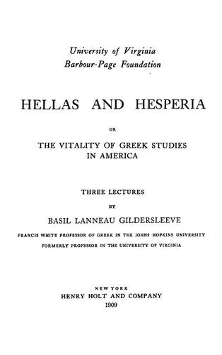 Download Hellas and Hesperia