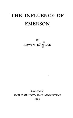 Download The influence of Emerson
