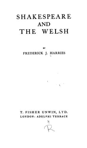 Download Shakespeare and the Welsh