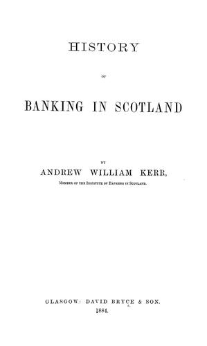 Download History of banking in Scotland