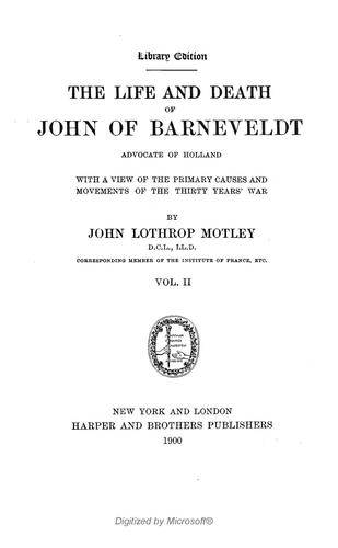 Download The writings of John Lothrop Motley.