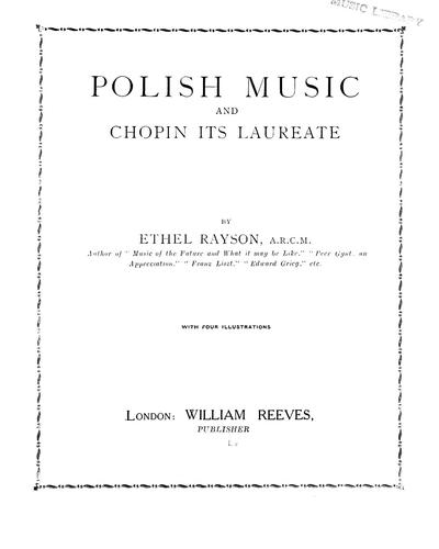 Download Polish music and Chopin, its laureate