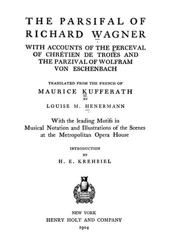 Download The Parsifal of Richard Wagner