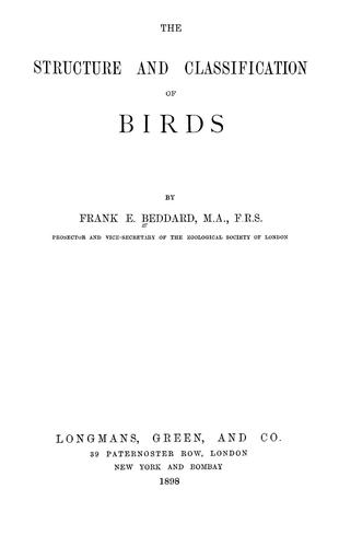 Download The structure and classification of birds