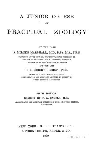 Download A junior course of practical zoology