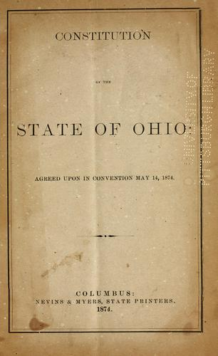 Constitution of the state of Ohio