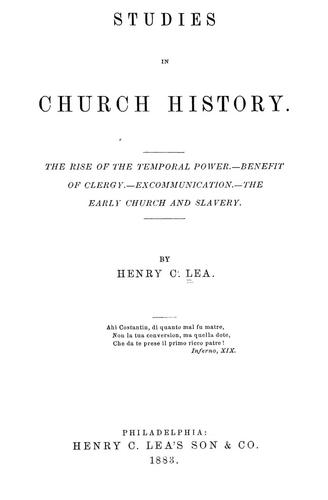 Download Studies in church history.
