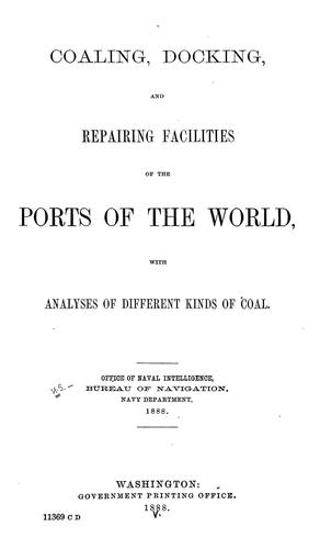 Download Coaling, docking, and repairing facilities of the ports of the world