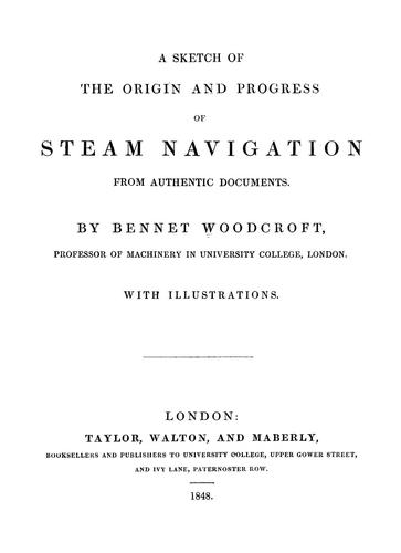 Download A sketch of the origin and progress of steam navigation from authentic documents.