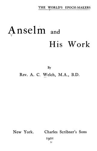 Download Anselm and his work