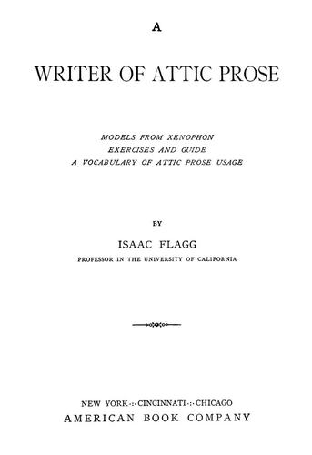 Download A writer of Attic prose