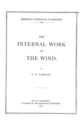 The internal work of the wind.