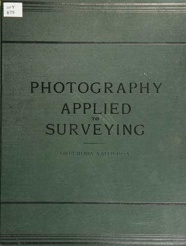 Photography applied to surveying.