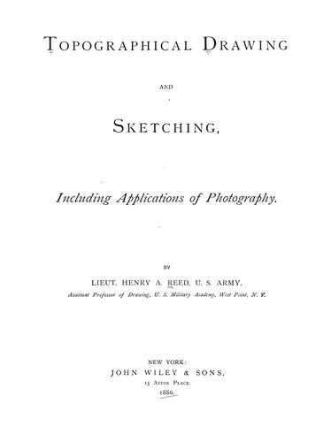 Topographical drawing and sketching
