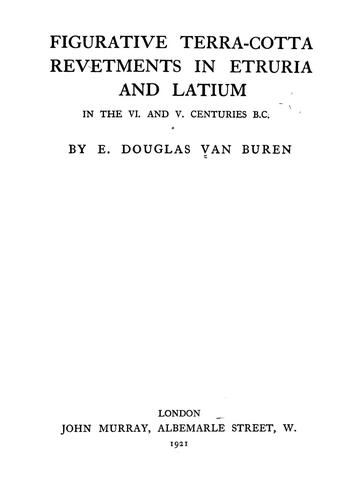 Download Figurative terra-cotta revetments in Etruria and Latium in the VI. and V. centuries B. C.