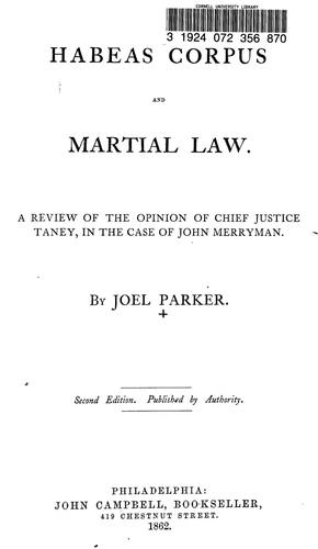 Download Habeas corpus and martial law.