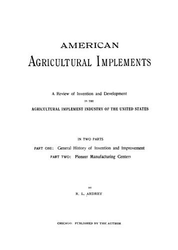 Download American agricultural implements