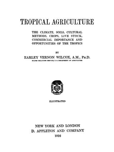 Download Tropical agriculture