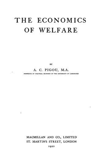 Download The economics of welfare