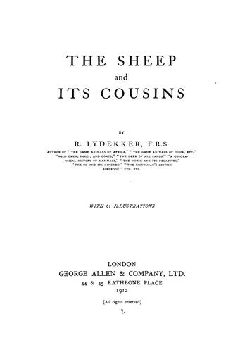 The sheep and its cousins