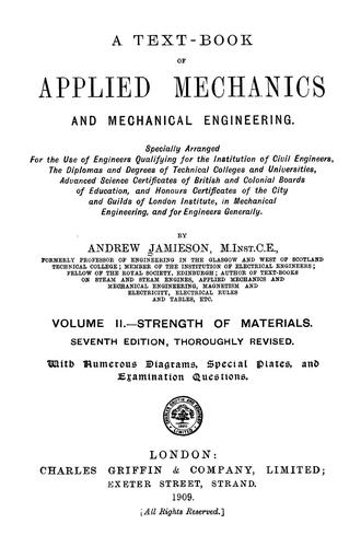 A text-book of applied mechanics and mechanical engineering …