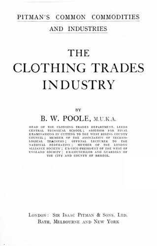 Download The clothing trades industry