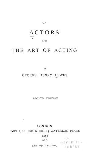 Download On actors and the art of acting