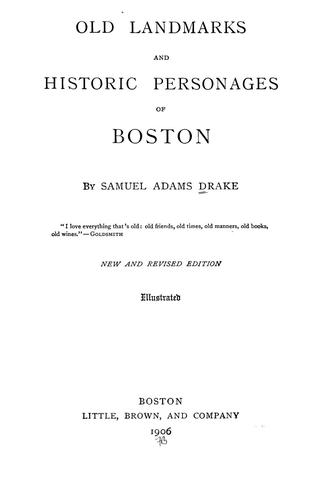 Download Old landmarks and historic personages of Boston