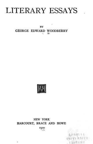 Download Literary essays