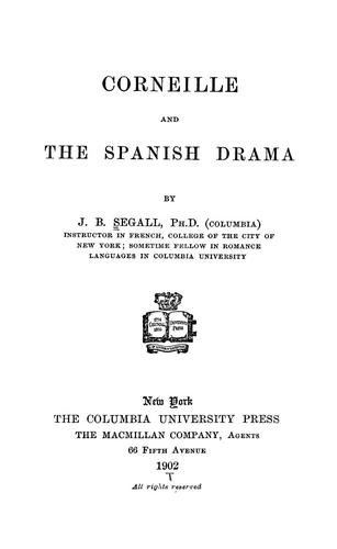 Download Corneille and the Spanish drama