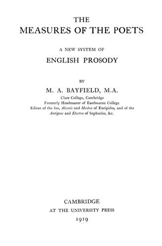 Download The measures of the poets