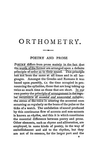 Orthometry