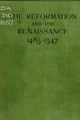 Download The reformation and the renaissance (1485-1547)